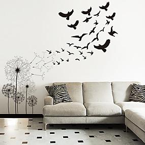 povoljno Ukrasne naljepnice-životinje / botaničke zidne naljepnice maslačak leteće ptice zidne naljepnice ukrasne zidne naljepnice pvc ukras kuće zidne naljepnice zid / ukras prozora 1pc