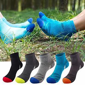 ieftine Îmbrăcăminte sportivă-Bărbați Șosete de Drumeție 5 perechi Vară În aer liber Respirabil Confortabil la umezeală Anti Blister Elastic Șosete Peteci Bumbac pentru Camping & Drumeții Vânătoare Pescuit