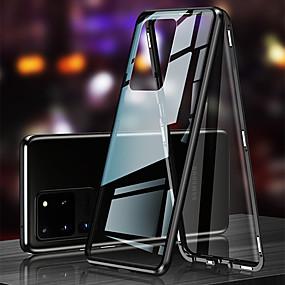 baratos Samsung Galaxy S10-caixa magnética de proteção de vidro dupla face para samsung galaxy note 20 note 20 ultra note 10 note 10 plus s20 s20 ultra s20 plus s10 s10 plus s10e a11 a21s a31 a51 a71 m31