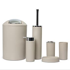 ieftine Gadget Baie-set accesorii baie 6 buc perie toaletă săpun vas coș de gunoi periuță de dinți cupă dispenser săpun set accesorii baie