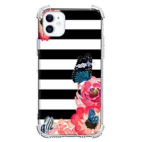 Недорогие Дизайн Case-Цветочный принт случай За Apple iPhone 12 iPhone 12 Mini iPhone 12 Pro Max Уникальный дизайн Защита от удара Кейс на заднюю панель ТПУ