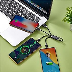 baratos Carregadores USB-carregador usb litbest short-3 em 1 estação de carregador de mesa 3 com carregador rápido 2.0 universal / adaptador de carregamento usb