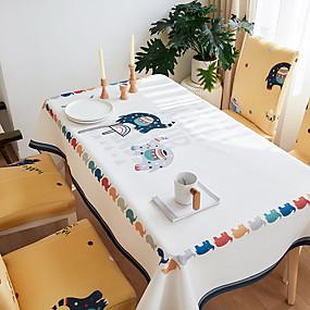 Χαμηλού Κόστους Κουζίνα και τραπεζαρία-χοντρό αδιάβροχο τραπεζομάντιλο τετράγωνο τραπεζομάντιλο διακοσμητικό κουζίνα ορθογώνιο τραπεζομάντιλο πολύχρωμο elefant1 τεμ