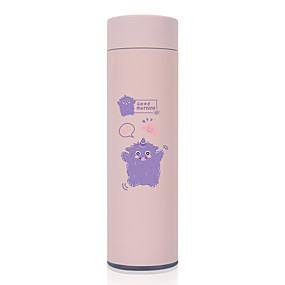 Χαμηλού Κόστους Κουζίνα και τραπεζαρία-450ml ζώο χαριτωμένο 304 ανοξείδωτο χάλυβα ποτήρι μόνωσης μπουκάλι νερό φορητή φιάλη κενού για φλιτζάνι ταξιδιού πολύχρωμη κούπα καφέ