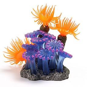 halpa Lemmikkieläinten Tarvikkeita-1kpl kala-akvaario-koristeet kodin pehmeä keinotekoinen korallikalasäiliöakvaario