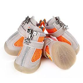 preiswerte Haustierzubehör-Hunde Schuhe und Stiefel Rutschfest warm halten Modisch Für Haustiere Gummi Rot
