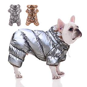 halpa Lemmikkieläinten Tarvikkeita-koiran takki, lemmikkikoiran pentu lämmin untuvatakki koirat vedenpitävät tuulenpitävät vaatteet lemmikkikissa talvipehmustetut liivit vaatteet pienille keskisuurille koirille