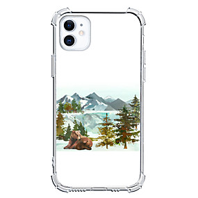 Недорогие Дизайн Case-Пейзаж случай За Apple iPhone 12 iPhone 12 Mini iPhone 12 Pro Max Уникальный дизайн Защита от удара Кейс на заднюю панель ТПУ