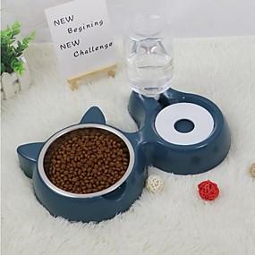 halpa Lemmikkieläinten Tarvikkeita-Kissat Pieneläimet Ruokinta-automaatit 0.35 L Muovi Automaattinen Yhtenäinen Sininen Kupit ja ruokinta
