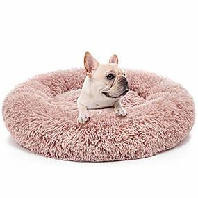 halpa Lemmikkieläinten Tarvikkeita-koiranpeti ahdistusta rauhoittavat lemmikkisängyt muhkea donitsi pyöreä pehmustustyyny, pestävä, 27,6 ''