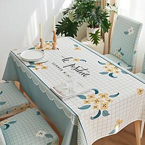 Χαμηλού Κόστους Κουζίνα και τραπεζαρία-χοντρό αδιάβροχο τραπεζομάντιλο τετράγωνο τραπεζομάντιλο διακοσμητικό κουζίνα ορθογώνιο τραπεζομάντιλο floral 1 τεμ