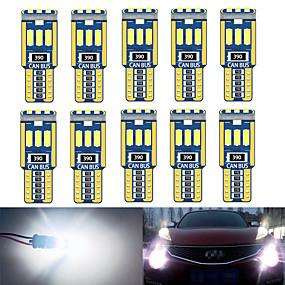 Недорогие Подсветка для номерного знака-10 шт. W5w t10 внутреннее освещение автомобиля canbus 194501 led 9 4014 smd приборные фары лампа лампа купольный свет без ошибок 12 в 6000 к