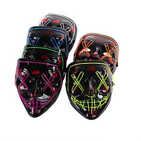 ieftine Decorațiuni Vacanță & Petrecere-mască de înfricoșător de Halloween cu lumină rece, mască strălucitoare