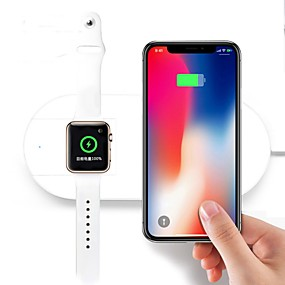 billige ladestik-2in1 universel trådløs oplader combo 7.5w og 2w til iPhone til Apple ur til iwatch til smartphones USB oplader pad