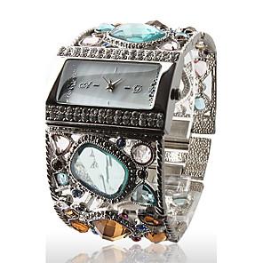 povoljno Ženski satovi-Žene Luxury Watches Ručni satovi s mehanizmom za navijanje Diamond Watch Kvarc Srebro Casual sat Analog dame Svjetlucavo Okrugla Moda