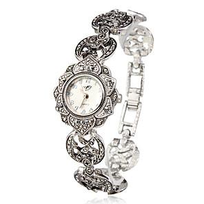 ieftine Ceasuri Damă-Pentru femei Ceas Brățară Japoneză Quartz Argint Ceas Casual Analog femei Floare Modă Elegant - Argintiu Un an Durată de Viaţă Baterie / SSUO SR626SW