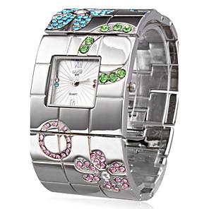 ieftine Ceasuri Damă-Pentru femei Ceas de Mână Piața de ceas Japoneză Quartz Oțel inoxidabil Argint Ceas Casual femei Lux Floare Boem Atârnat - Argintiu Un an Durată de Viaţă Baterie / SSUO SR626SW