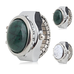 ieftine Ceasuri Damă-Pentru femei femei Ceas inel Japoneză Quartz Argint Ceas Casual Analog Charm Modă - Alb Verde