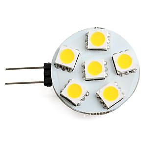 ieftine Becuri LED Bi-pin-1 W Spoturi LED 150 lm G4 6 LED-uri de margele SMD 5050 Alb Cald 12 V / #