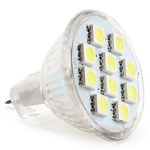 1pc 1 W LED-spotpærer 50-80 lm MR11 MR11 10 LED perler SMD 5050 Varm hvit Kjølig hvit Naturlig hvit 12 V