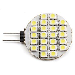 voordelige 2-pins LED-lampen-2 W LED-spotlampen 6000 lm G4 24 LED-kralen SMD 3528 Natuurlijk wit 12 V