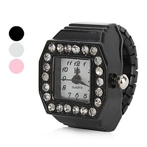 ieftine Becuri LED Bi-pin-Pentru femei Ceas inel Diamond Watch Piața de ceas Japoneză Quartz Negru / Alb / Pink imitație de diamant femei Sclipici - Alb Negru Roz Un an Durată de Viaţă Baterie / SSUO SR626SW