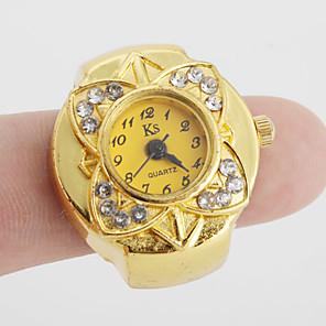 ieftine Ceasuri Damă-Pentru femei Ceas inel ceas de aur Japoneză Quartz Auriu Ceas Casual femei Floare Vintage - Auriu Un an Durată de Viaţă Baterie / SSUO SR626SW