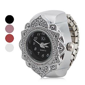 ieftine Ceasuri Damă-Pentru femei Ceas inel Japoneză Quartz Oțel inoxidabil Argint Ceas Casual Analog femei Floare Modă - Negru Rosu Roz Un an Durată de Viaţă Baterie / SSUO SR626SW