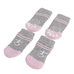 ieftine Imbracaminte & Accesorii Căței-Câine Pantofi & Cizme Șosete Dungi Casul / Zilnic Keep Warm Iarnă Îmbrăcăminte Câini Gri Costume Bumbac S M L