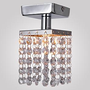 """1-lys 8 (3 """") krystall / mini stil innvendig lys metall krom moderne moderne 110-120v / 220-240v / g9"""