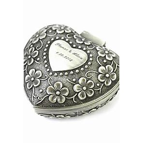 ieftine Cutie de bijuterii și afișaj-Pentru femei Cutii de Bijuterii Tin Alloy Clasic Vintage Modă Nuntă Aniversare Zilnic