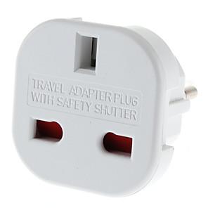 ieftine Cabluri de Adaptor AC & Curent-UE Plug pentru mai multe Universal Plug rotund adaptor de călătorie cu obturator de siguranță (110-240V)