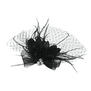 ieftine Lupe-Tul / Cristal / Pană Diademe / Birdcage Veils cu 1 Nuntă / Ocazie specială / Party / Seara Diadema / Material Textil