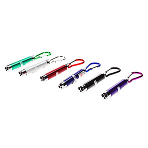 ieftine Breloc LED-Lanterne de Breloc LED - 3 emițători 1 Mod Zbor cu Baterii Camping / Cățărare / Speologie / Aliaj de Aluminiu