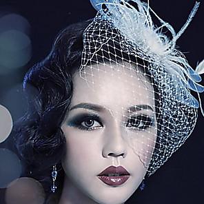ieftine Bijuterii de Păr-Tul / Cristal / Pană Diademe / Birdcage Veils cu 1 Nuntă / Ocazie specială / Party / Seara Diadema / Material Textil