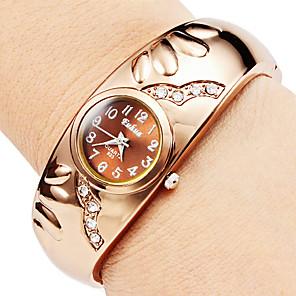 ieftine Ceasuri Damă-Pentru femei Ceas La Modă Ceas Brățară Quartz Elegant imitație de diamant Bronz Analog - Auriu