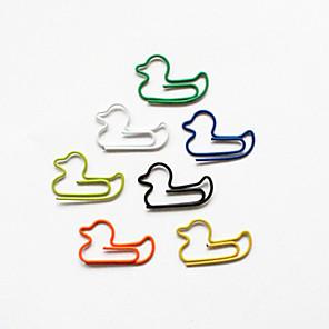 ieftine Papetărie-rață stil agrafe colorate (de culoare aleatorii, de 10-Pack)