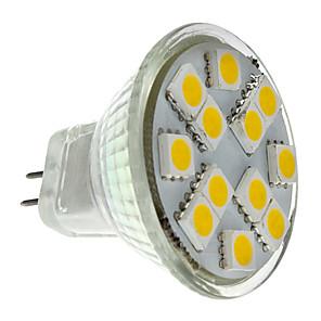 ieftine Testere & Detectoare-2 W Spoturi LED 160 lm GU4(MR11) MR11 12 LED-uri de margele SMD 5050 Alb Cald 12 V