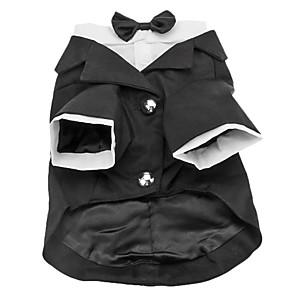 ieftine Pet Costume de Crăciun-Câine Costume Σμόκιν Îmbrăcăminte Câini Mată Bumbac Costume Pentru Primăvara & toamnă Iarnă Bărbați Cosplay Gril pe Kamado Nuntă