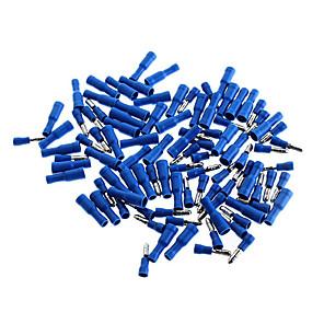 ieftine Accesorii-stil conectori izolate glonț de sex masculin si feminin set terminale - albastru (pachet de 50-pereche)