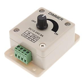 ieftine Ustensile de Reparat-dc12-24v 8a pwm manometru controler dimmer, 0% -100% pwm control luminos, comutator de lumină cu LED-uri luminoase pentru 5050/3528 benzi unice colorate, benzi cu bandă, lumini cu bandă sau alte produ