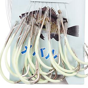 ieftine Cârlige Pescuit-undiță noctilucent de pescuit maritim, cu 60cm-line (30 buc / pachet), 16 # -18 # hq002 (galben)