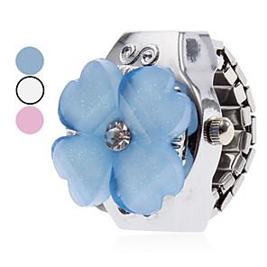 ieftine Ceasuri Damă-Pentru femei Ceas inel Japoneză Quartz Argint Ceas Casual femei Floare Desen animat - Alb Albastru Roz Un an Durată de Viaţă Baterie / SSUO SR626SW