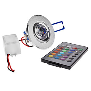 ieftine Becuri LED Plafon-3 W Plafonieră 180 lm Spot Încastrat 1 LED-uri de margele LED Putere Mare Telecomandă RGB 85-265 V