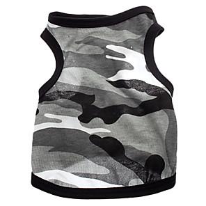 ieftine Imbracaminte & Accesorii Căței-Câine Tricou Îmbrăcăminte Câini Respirabil Gri Costume Bumbac Inimă camuflaj XS S M L