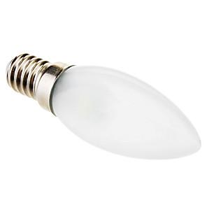 ieftine Becuri LED Lumânare-1 buc 0.5 W Becuri LED Lumânare 15-30 lm E14 C35 3 LED-uri de margele SMD 5050 Decorativ Alb 220-240 V / RoHs