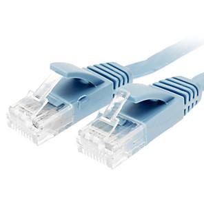 ieftine Cabluri Ethernet-Cat 6 Male către Male cablu de rețea plat de tip albastru (1M)