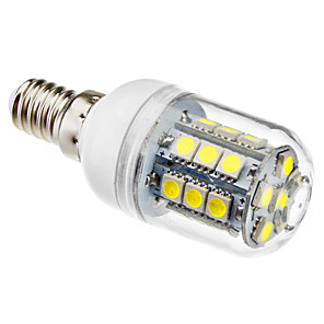 ieftine Becuri LED Corn-brelong 1 buc e14 27led smd5050corn lumina ac220v lumina alba