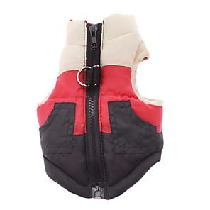 ieftine Imbracaminte & Accesorii Căței-Câine Haine Γιλέκο Bloc Culoare Clasic Casul / Zilnic În aer liber Iarnă Îmbrăcăminte Câini Respirabil Costume Bumbac XS S M L