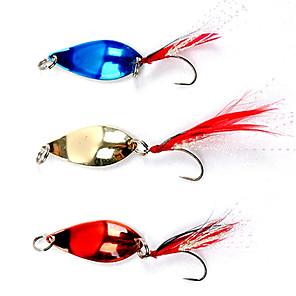 ieftine Cârlige Pescuit-Carlig de pescuit colorate, acoperite cu pene Lure (5g, culoare Ramdon)